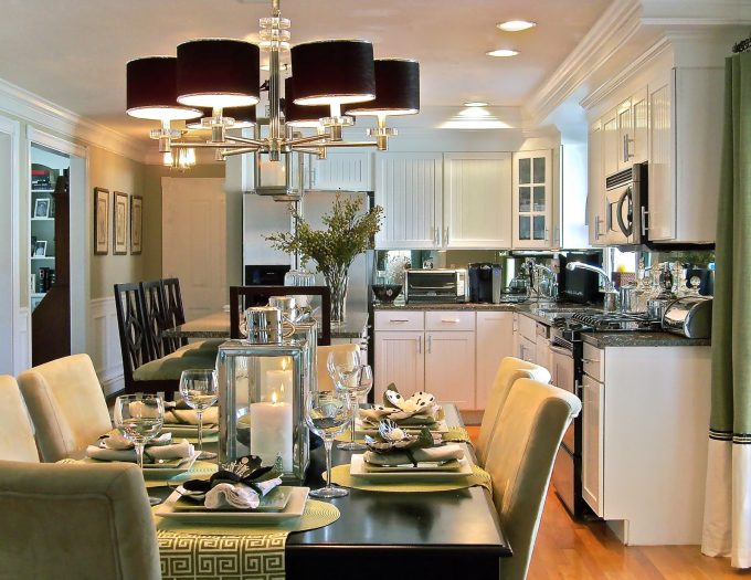 Formal Dining Space Modern Eating Room In Kitchen