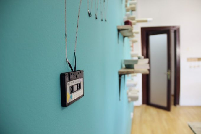 Fresh Color With Blue Wall And Wooden Floor