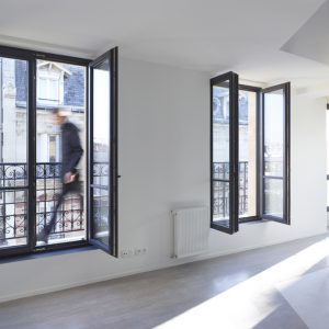 Glass Window And Balcony Space From The Extension Project