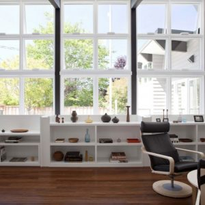 Large Glass Windows And White Color Interior