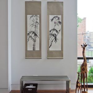 Minimalist Interior Design With Chinese Painting And Few Element Interior Decor Modern House Design
