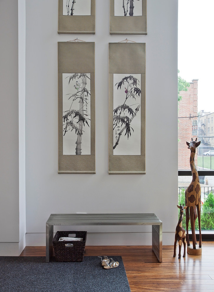 Minimalist Interior Design With Chinese Painting And Few Element Decor Modern House