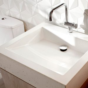 Modern White Sink And Faucet Contemporary Bathroom Design