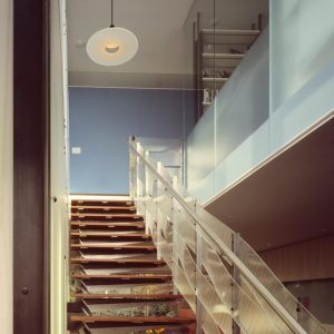 Modern Wooden Stair With Innovative Transparent Banister Modern Interior House Design