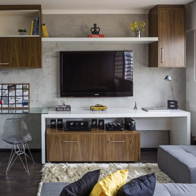 Multi Purposes Furniture Used Contemporary Minimalsit Apartment Design