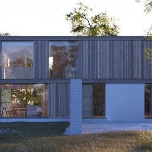 Natural Light From Large Glass Walls Friendly House Design