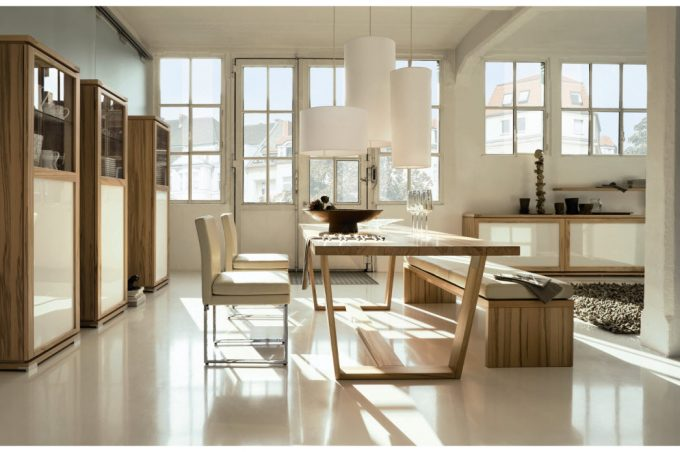 Nice White Dining Room Simple Stylish Dining Space Design