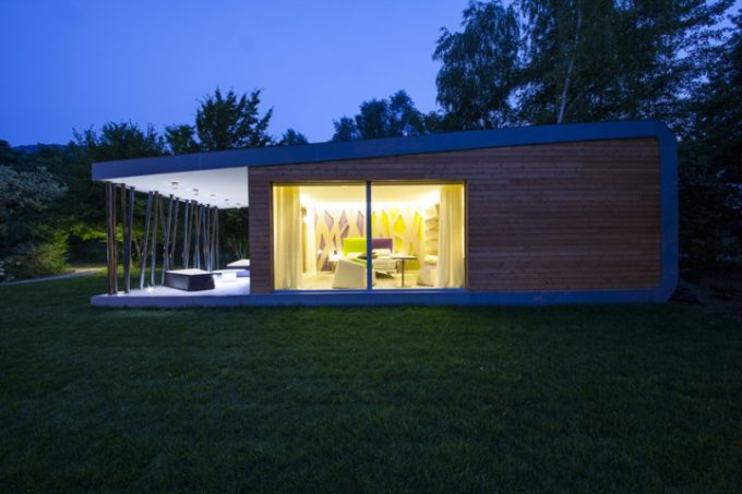 Night Facade Efficient Energy Usage Modern Green Residence