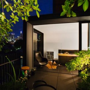 Night View The Fifth Outdoor Roof Design