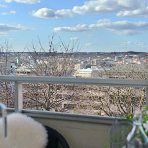 Small Balcony With Gothenburg  City View