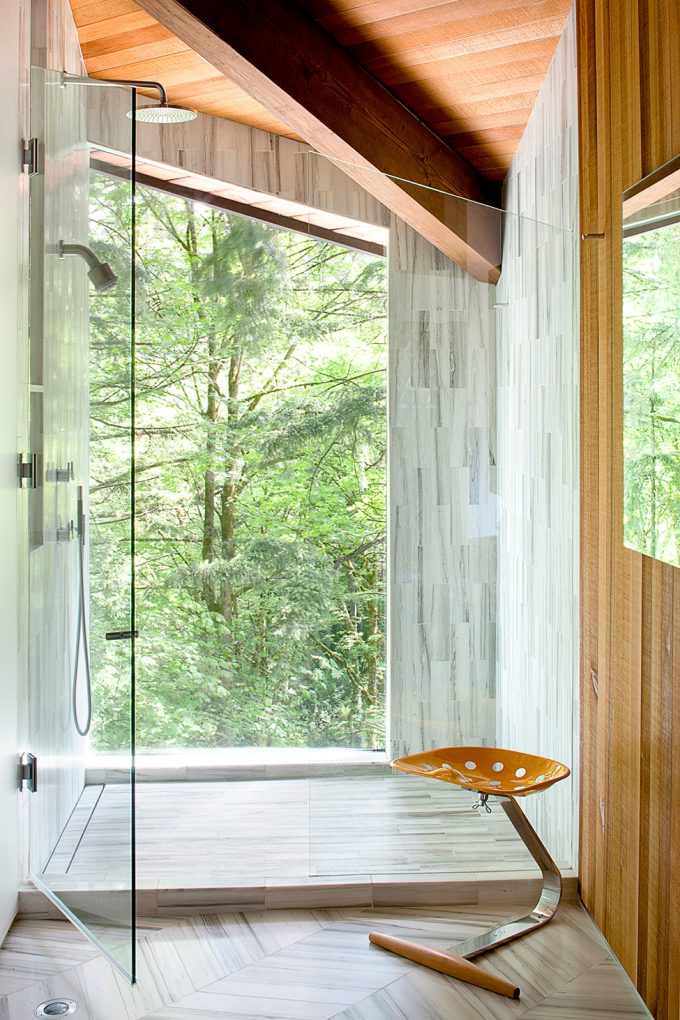 Stunning Shower Space Design Bathroom Design With Natural Green View