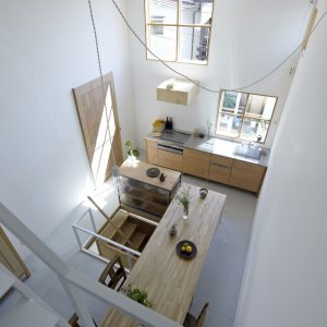 The Dining And Kitchen Space Detail From Above View