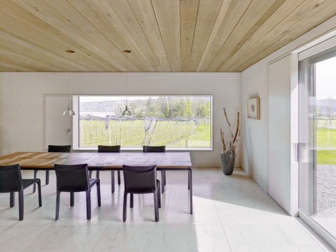 The Dining Space Design With Breezy Dining Space And Large Window