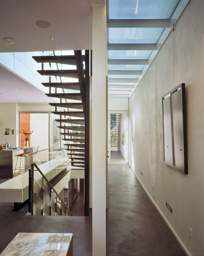 The Floating Stair Design Residence Corridor Design Contemporary House With Minimalistic Design