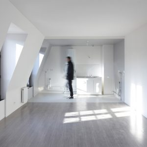 The New Space Extension White Wal And Wooden Floor