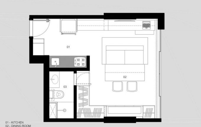 The Plans Small Apartment Outlay