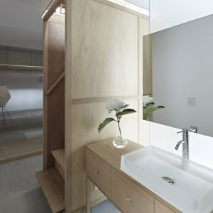 The Wooden Stair And Wooden Sink Wash Details