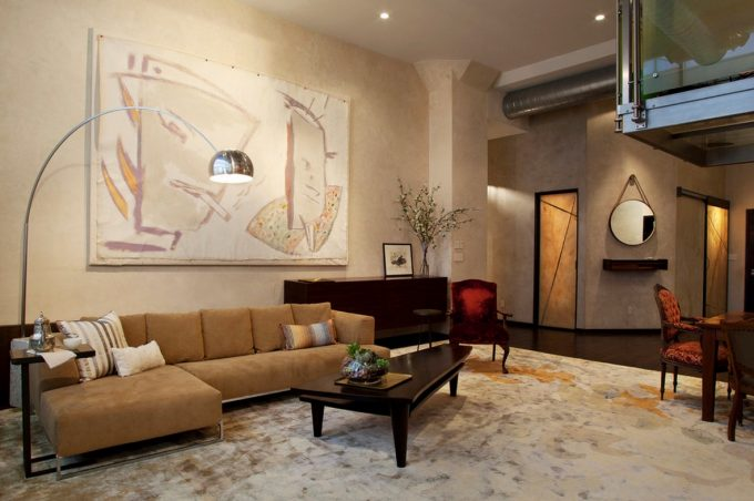 Urban Loft Faux Finish Walls Bring Artistic And Art Work As Room Decor Ideas