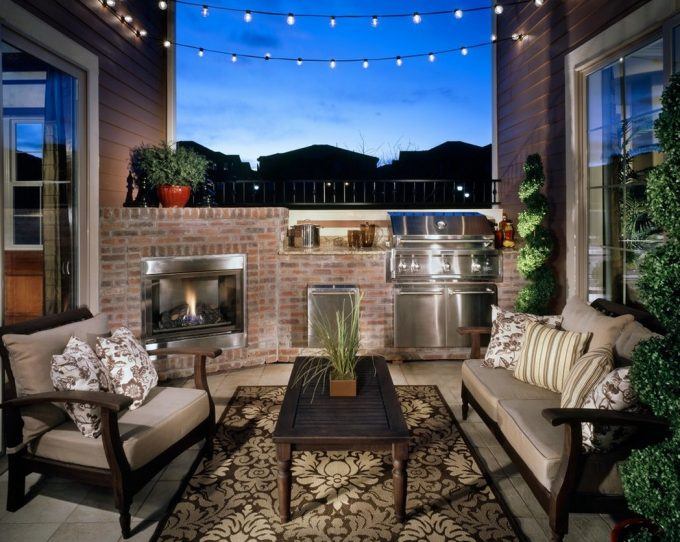 Urban Loft Terrace Outdoors Relaxing Space Decor And Comfort Furniture