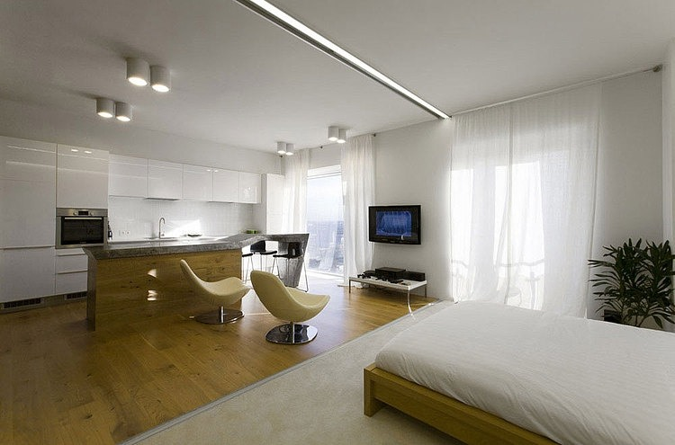 White Minimalist Apartment Interior Remodling In Moscow