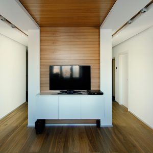 Wooden Floor And Ceiling Living Space Decor