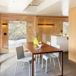 Wooden Wall House Design Modern Dining Space Decor