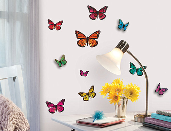 3 D Butterfly Wall Decals Kid's Room Decoration