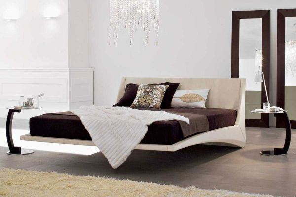 Beautiful Floating Bed Offers A Sophisticated Look And Spacy Room