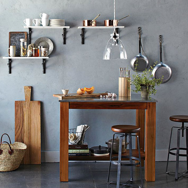 Beautifully Wall Shelving For Kitchen Equipment Storage