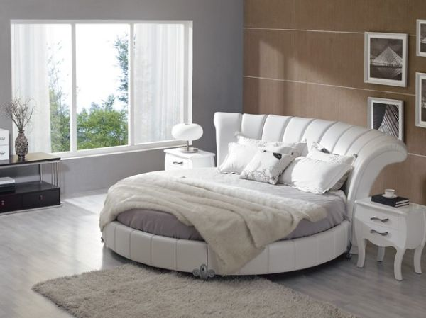 Contemporary Round Bedset Helps Create Exquisite Interiors Beautiful Bedroom With Unique Bed Design
