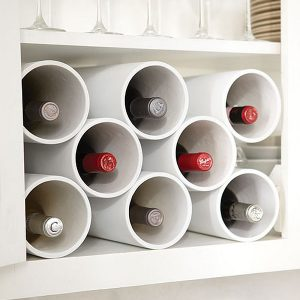 DIY Kitchen Acessories With PVC Pipe Wine Bottle Rack