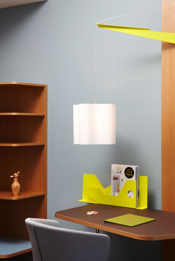 Details And Colours Fresh Bedroom Design With Yellow Color And Bright Hanging Lamp