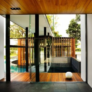 Glass And Wood Modern Natural House Design