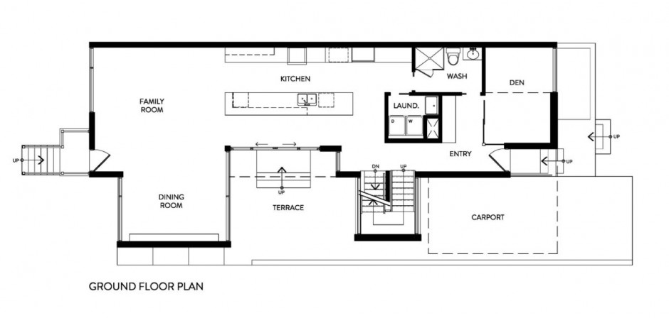 Dining room ground floor plan zen barn house design for Barn architecture plans