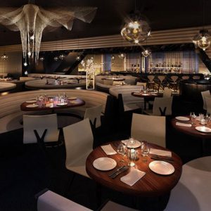 Hotel Me London Superb Stylish Dining Area With Romantic Nuance
