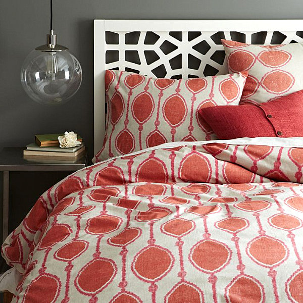 Ikat Bed Print Duvet Cover Artistic Bedding Pattern For Stylish Bedroom Decor Ideas