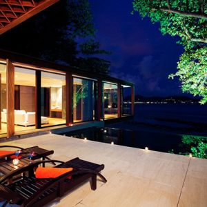 Lounge By Night Exotic Villa In Phuket Tropical Resort For Holiday