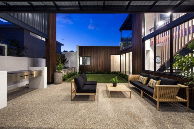 Lovely Outdoor Room With Barbaque Space