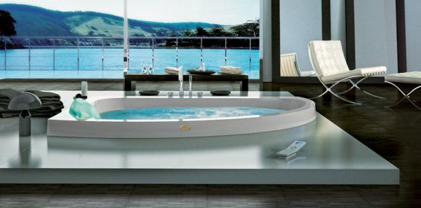 Luxurious Whirlpool Jacuzzi With A Stunning Sea View