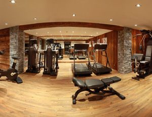 Marco Polo Gym Rooms With Modern Equipment And Modern Interior With Wooden Floor