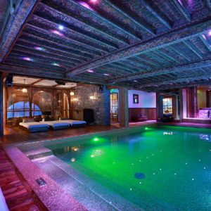 Marco Polo Pool Provide Joyful Winter Swimming Experience With Warm Water And Colorful Interior Lighting