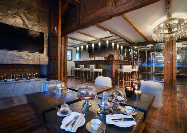 Marco Polo Salon Downstairs Classic Wooden Interior With Beautiful Chandelier Amazing Alpine Chalet