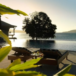 Qualia Resort Poolside Space Design With Sea View And Relaxing Character