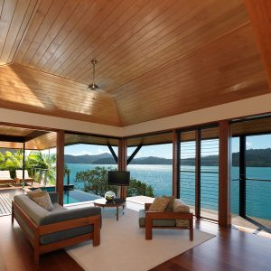 Qualia Resort Lounge Space Design With Floor Toceiling Window And Lovely Sea View Natural Hamilton Resort