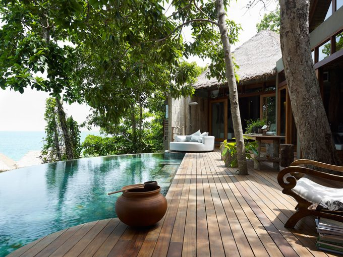 Relaxing Ambience Traditional Tropical House Anh Green Tree And Cool Mini Pool Design