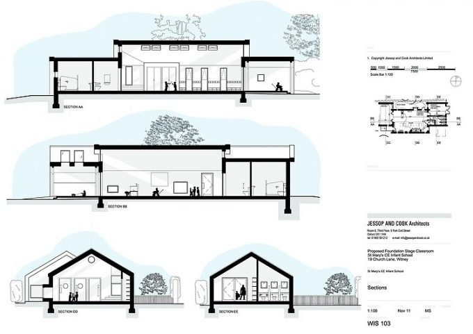 Saint Marys Infant School Jessop Cook Architects Section