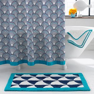 Scale Pattern Shower Curtain Fish Scales Shower Curtain From Jonathan Adler Modern Shower Curtain