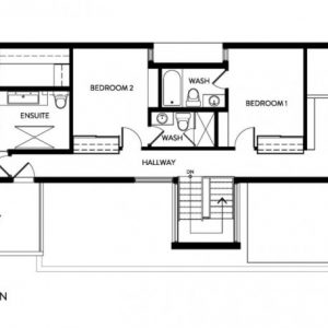 Second Floor Plan Contemporary Two Story House Design