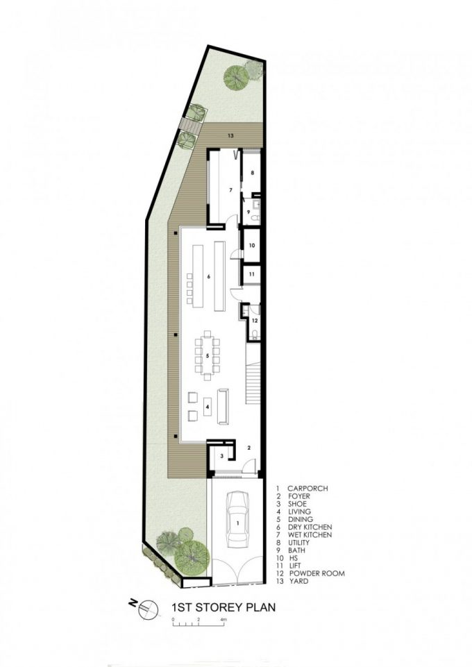 Sunny Side House Long And Narrow House Design