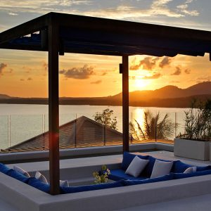 Villa Padma Beautiful Sunset View From The Top Floor